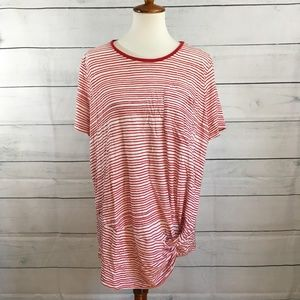 Lauren Ralph Lauren Striped Knot Blouse Size 3X